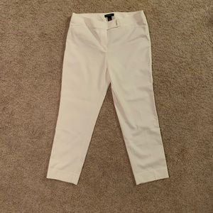 White House Black Market Slim Ankle White Pants
